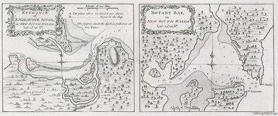 Captain James Cook's charts of Botany Bay and Endeavour River by unknown - print
