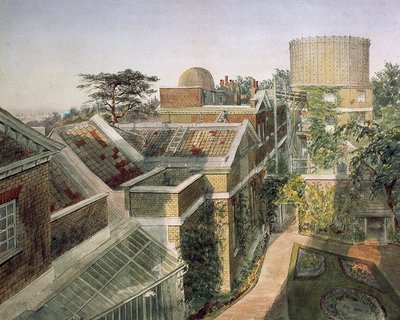 Elevated view of Royal Observatory, Greenwich by C.A. - print