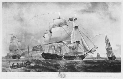 East Indiaman 'Dutton' (1781) taking a pilot off Dover by Robert Dodd - print