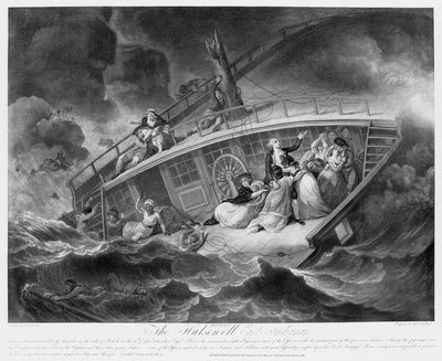 The wreck of 'Halsewell', an East Indiaman, off Seacombe in the Isle of Purbeck on 6 January 1786 by Jukes Francis - print