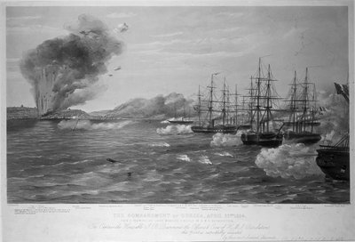 The Bombardment of Odessa, April 22nd 1854 by Thomas Goldsworth Dutton - print