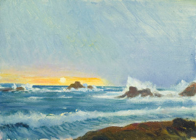 A coastal view, Grande Rocque by John Everett - print