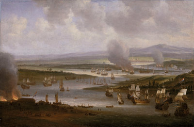 Dutch ships in the Medway, June 1667 by Willem Schellinks - print