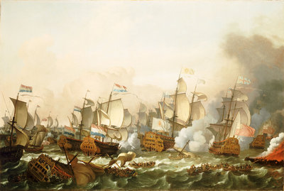 The Battle of Barfleur, 19 May 1692 by Ludolf Bakhuizen - print
