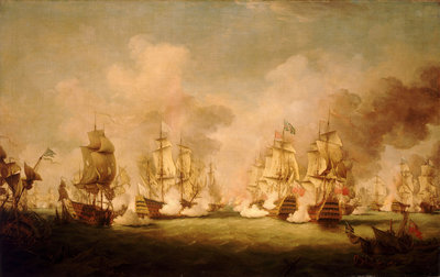 The Battle of Barfleur, 19 May 1692 by Richard Paton - print