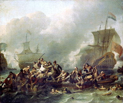 The Battle of Texel, 11 August 1673 by Ludolf Bakhuizen - print