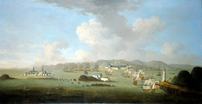 The capture of Louisburg, 28 June 1745 by Peter Monamy - print