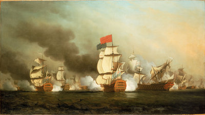 Lord Anson's victory off Cape Finisterre, 3 May 1747 by Samuel Scott - print