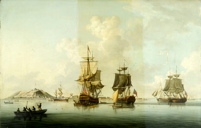 Attack on Goree, 29 December 1758: Ships at Anchor after the Action by Dominic Serres the Elder - print