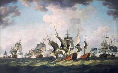The Battle of Quiberon Bay, 20 November 1759 by Richard Paton - print