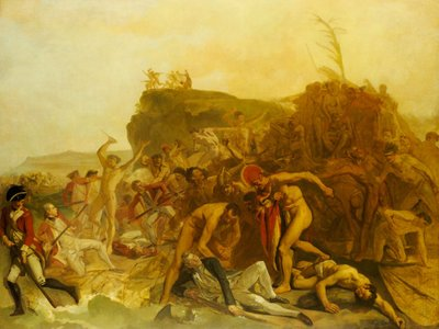 The death of Captain James Cook, 14 February 1779 by Johann Zoffany - print