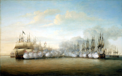 Battle of Negapatam, 6 July 1782 by Dominic Serres the Elder - print