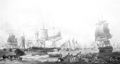 The Battle of the First of June, 1794 by Robert Dodd - print