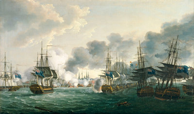 The Battle of Copenhagen, 2 April 1801 by John Thomas Serres - print