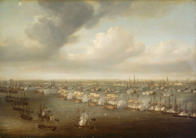 The Battle of Copenhagen, 2 April 1801 by Nicholas Pocock - print