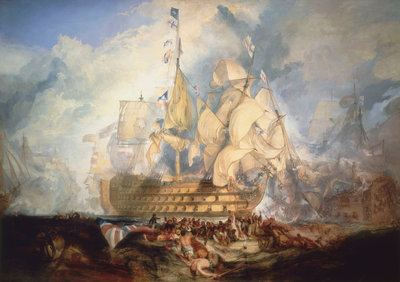 The Battle of Trafalgar, 21 October 1805 by Joseph Mallord William Turner - print