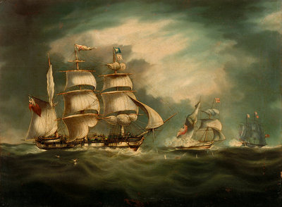 Capture of the 'Gypsy', 30 April 1812 by Thomas Buttersworth - print