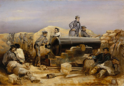 The 'Diamond' battery at the siege of Sebastopol, 15 December 1854 by William Simpson - print