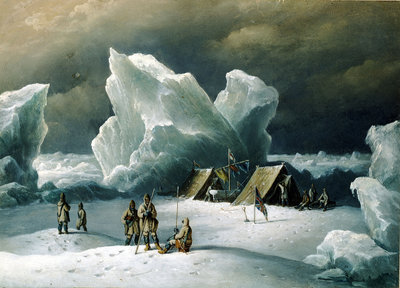 Captain Markham's most northerly encampment by Richard Brydges Beechey - print