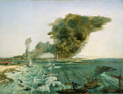 Withdrawal from Dunkirk, June 1940 by Richard Ernst Eurich - print