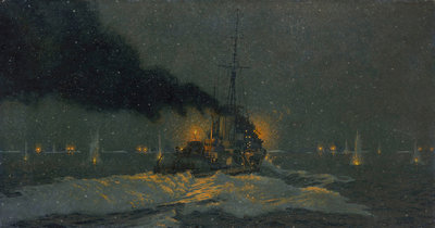 Captain Sherbrook's Action, 31 December 1942 by Charles Pears - print