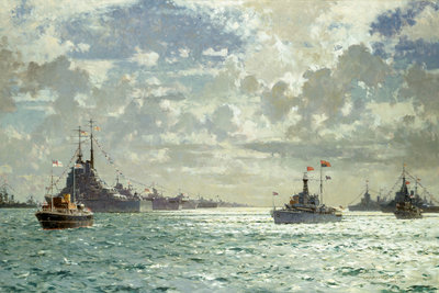 Coronation review, 15 June 1953 by Norman Wilkinson - print
