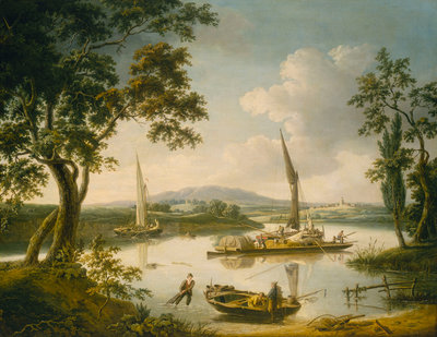 The Thames at Shillingford by John Thomas Serres - print