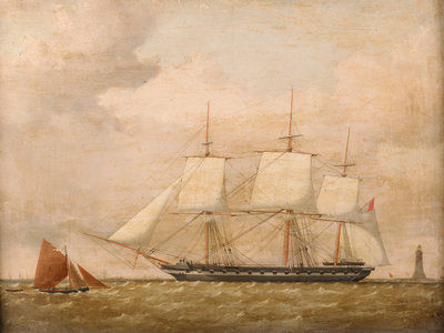 A frigate by Henry A. Luscombe - print