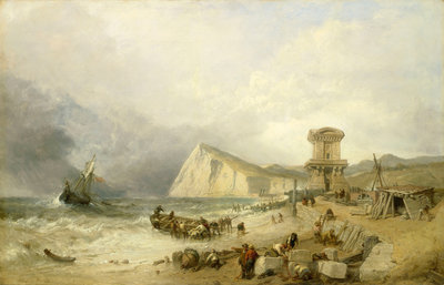 Shakespeare Cliff, Dover, 1849 by Clarkson Stanfield - print