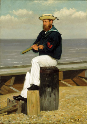 Sailor on look out by Henry Stacey Marks - print