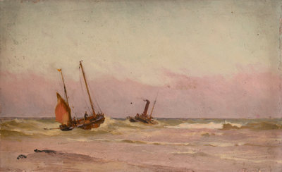 Fishing boats by John Fraser - print