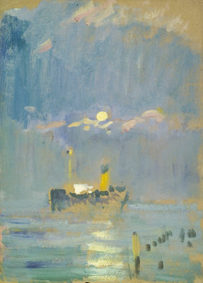 A ship in the moonlight by John Everett - print
