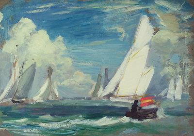Yachting at Cowes by John Everett - print