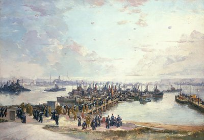 Libertymen at Lyness by Charles Ernest Cundall - print