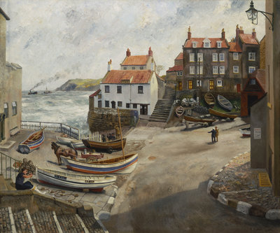 Robin Hood's Bay in wartime by Richard Ernst Eurich - print