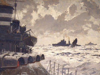 End of a U-boat by Norman Wilkinson - print