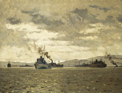 Convoy entering Murmansk by Norman Wilkinson - print