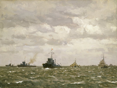 D-Day: sweeping ahead of the destroyers, early morning, 6 June 1944 by Norman Wilkinson - print