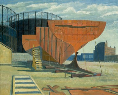 Shipbuilding at Greenwich by Anne Christopherson - print