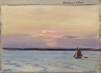 A sailing vessel by John Everett - print