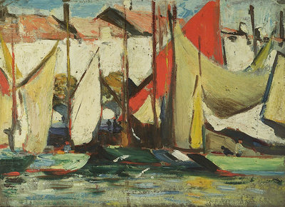 A fishing vessel by John Everett - print