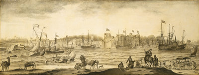 Surat from the sea by Ludolf Bakhuizen - print