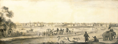 Surat from the land by Ludolf Bakhuizen - print