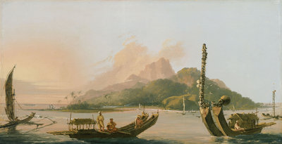Tahiti: Bearing south east 1773 by William Hodges - print
