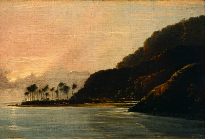 A View of Point Venus and Matavai Bay, looking east by William Hodges - print