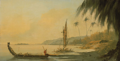 View from Point Venus, Island of Otaheite (Tahiti) by William Hodges - print