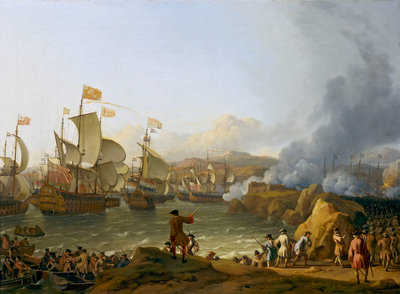 The Battle of Vigo Bay, 12 October 1702 by Ludolf Bakhuizen - print