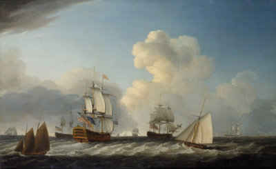 The 'St George' with other vessels by Dominic Serres the Elder - print