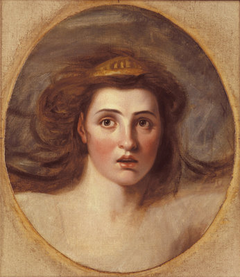 Lady Emma Hamilton as Cassandra, (1765-1815) by after George Romney - print