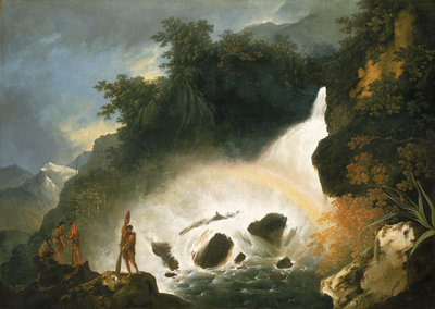 Waterfall in Dusky Bay, April 1773 by William Hodges - print